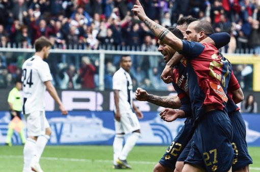 Vòng 28 Serie A: Genoa thắng Juventus 2-0
