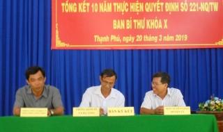 Thạnh Phú tổng kết 10 năm thực hiện Quyết định số 221 của Ban Bí thư