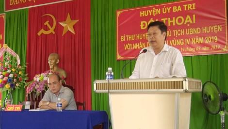 Lãnh đạo huyện Ba Tri tiếp xúc, đối thoại trực tiếp với nhân dân