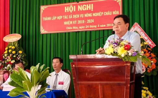 Thành lập Hợp tác xã Dịch vụ nông nghiệp Châu Hòa