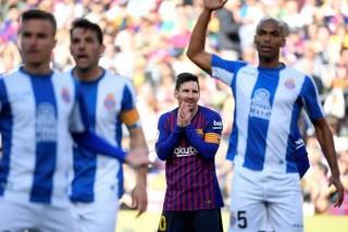 Vòng 29 La Liga: Messi lập cú đúp giúp Barca chiến thắng Espanyol