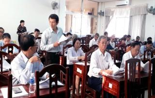 Góp ý văn kiện Đại hội MTTQ Việt Nam TP. Bến Tre, nhiệm kỳ 2019 - 2024