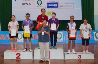 Trao 30 giải thưởng cho các vận động viên tại Giải Cầu lông các nhóm tuổi