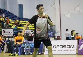 Nguyễn Tiến Minh thắng chóng vánh tại vòng 1 giải cầu lông Ciputra Hanoi 2019
