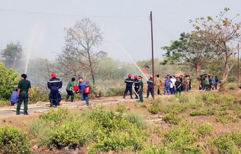 Lực lượng vũ trang tỉnh: Tăng cường phòng chống cháy nổ trong mùa khô