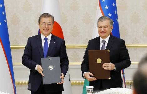 Hàn Quốc - Uzbekistan nâng cấp quan hệ lên đối tác chiến lược đặc biệt