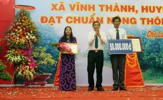 Xã Vĩnh Thành được công nhận đạt chuẩn nông thôn mới