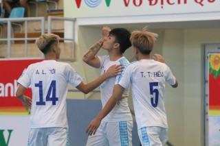 """Vòng 4 giải futsal vô địch quốc gia 2019:  """"Anh em"""" nhà Thái Sơn khiến 2 đội bóng Khánh Hòa ôm hận"""