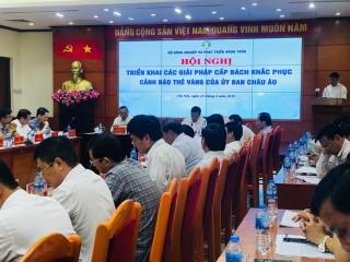 """Việt Nam khẩn trương khắc phục cảnh báo """"thẻ vàng"""" của EC"""