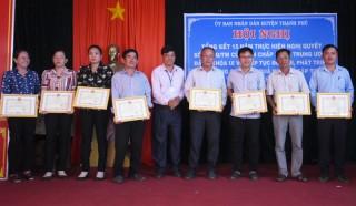 Thạnh Phú có 16 hợp tác xã và 164 tổ hợp tác