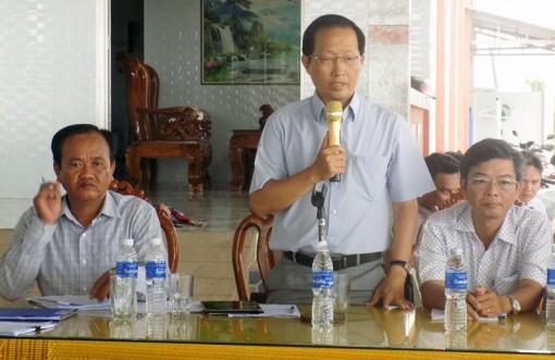 Thạnh Phú họp dân thông tin dự án Nhà máy điện gió số 5, xã Thạnh Hải