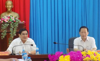 Đoàn kiểm tra 770 của Tỉnh ủy làm việc với Ban Thường vụ Huyện ủy Thạnh Phú