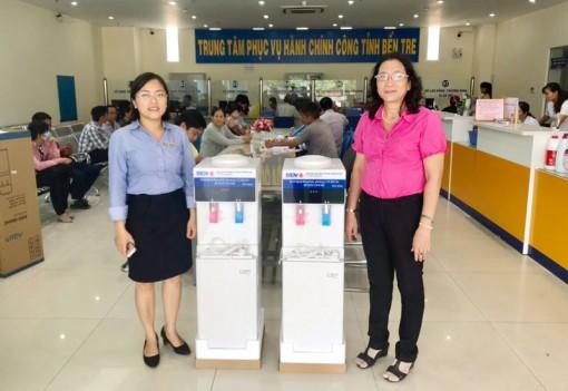 BIDV Đồng Khởi trao tặng 2 máy lọc nước nóng lạnh