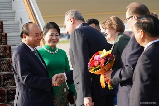 Lễ đón chính thức Thủ tướng Nguyễn Xuân Phúc tại Thủ đô Moscow (Nga)
