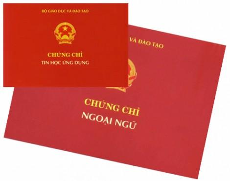 Công bố các đơn vị được tổ chức thi, cấp chứng chỉ ngoại ngữ, tin học