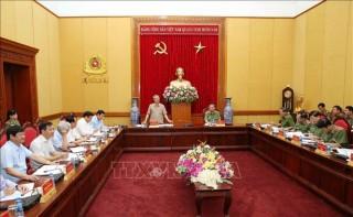 Đoàn Tiểu ban Văn kiện Đại hội XIII làm việc với Đảng ủy Công an Trung ương