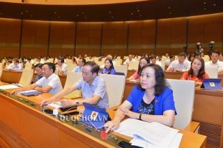 Quốc hội biểu quyết thông qua các dự án Luật