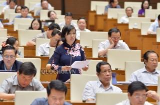 Đại biểu Quốc hội đơn vị tỉnh thảo luận dự án Luật Chứng khoán (sửa đổi)