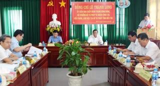 Đoàn công tác Bộ Tư pháp làm việc tại Bến Tre