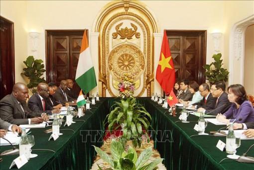 Phó thủ tướng Phạm Bình Minh hội đàm với Bộ trưởng Ngoại giao Cộng hòa Bờ Biển Ngà