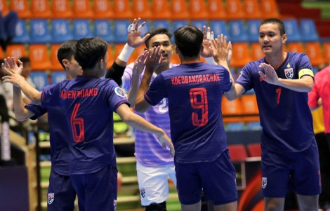 U20 Futsal châu Á 2019:  U20 Futsal Afghanistan đánh bại U20 Futsal Thái Lan 3-2