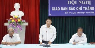 Hội nghị giao ban báo chí tháng 6-2019
