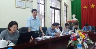 Đoàn thanh tra của Tổng cục Môi trường làm việc tại tỉnh