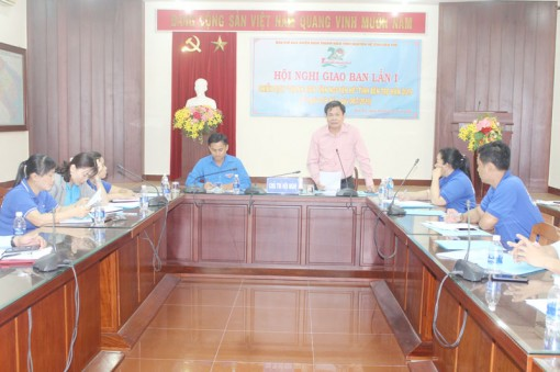 Giao ban lần thứ I Chiến dịch Thanh niên tình nguyện hè tỉnh năm 2019