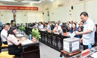 Hội nghị Ban Chấp hành Đảng bộ tỉnh đột xuất bầu chức danh Bí thư Tỉnh ủy Bến Tre đối với ông Phan Văn Mãi
