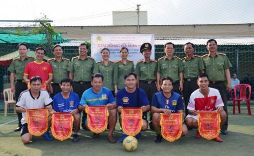 Các đơn vị nghiệp vụ an ninh giao lưu bóng đá
