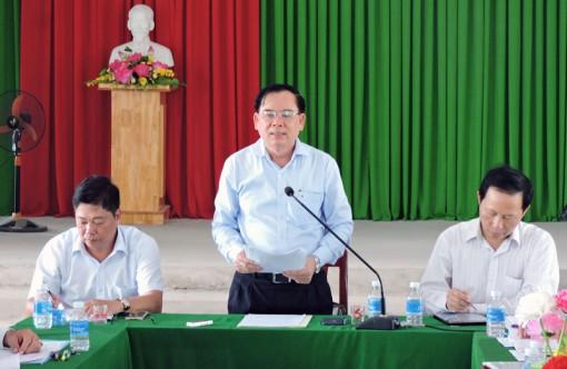 Phó bí thư Tỉnh ủy Trần Ngọc Tam làm việc với Đảng ủy xã An Nhơn