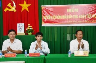 Chủ tịch HĐND tỉnh Phan Văn Mãi tiếp xúc cử tri tại xã Châu Hòa