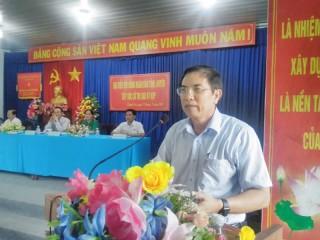 Chủ tịch UBND tỉnh Cao Văn Trọng tiếp xúc cử tri xã Thạnh Trị