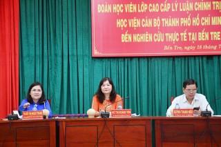 Tiếp và làm việc với đoàn học viên lớp Cao cấp lý luận chính trị Học viện Cán bộ TP. Hồ Chí Minh