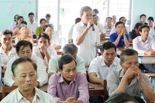 Đại biểu HĐND tỉnh tiếp xúc cử tri huyện Ba Tri
