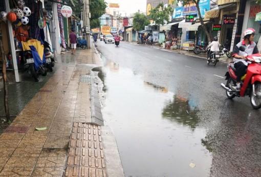Tuyến đường ngập nước lúc mưa nhiều