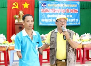 Thương binh Huỳnh Hữu Nghĩa nhiệt tình làm công tác từ thiện