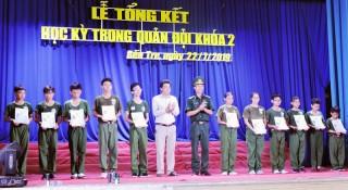 35 chiến sĩ hoàn thành chương trình học kỳ quân đội khóa 2