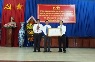Công bố quyết định công nhận vùng, xã an toàn khu tại Mỏ Cày Bắc,  Thạnh Phú
