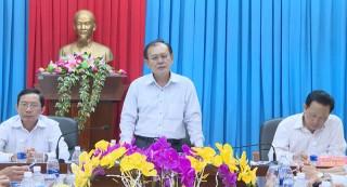 Đoàn kiểm tra 793 của Tỉnh ủy làm việc với Huyện ủy Thạnh Phú về phát triển du lịch