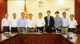 Phó chủ tịch UBND tỉnh Nguyễn Hữu Lập làm việc với các đối tác Hàn Quốc