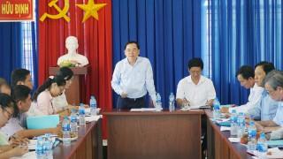 Thường trực Tỉnh ủy làm việc với Đảng ủy xã Hương Mỹ và xã Hữu Định