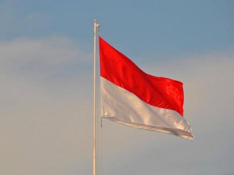 Lễ thượng cờ nhân dịp kỷ niệm 74 năm Quốc khánh Indonesia
