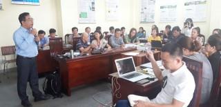 Tập huấn báo chí về biến đổi khí hậu