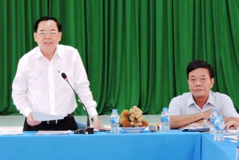 Phó bí thư Thường trực Tỉnh ủy Trần Ngọc Tam làm  việc với Đảng ủy xã Tân Thiềng