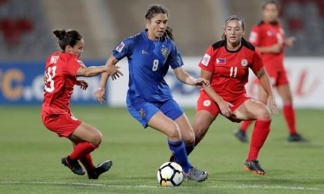 Bảng A AFF Cup nữ 2019:  Đánh bại  Philippines, Thái Lan duy trì vị trí đầu bảng