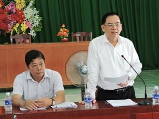 Phó bí thư Thường trực Tỉnh ủy Trần Ngọc Tam làm việc với Đảng ủy xã An Điền