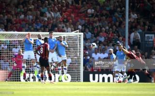 Vòng 3 Ngoại hạng Anh: Man City đánh bại Bournemouth 3-1