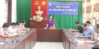 Đoàn đại biểu Quốc hội tỉnh lấy ý kiến đóng góp xây dựng dự thảo Luật Thư viện