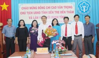 Chủ tịch UBND tỉnh Cao Văn Trọng đến thăm và làm việc với Bảo hiểm xã hội tỉnh